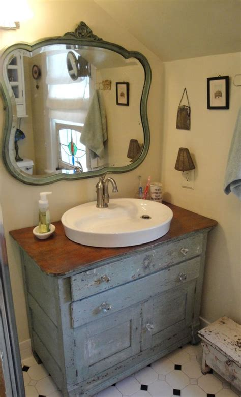 using dresser as bathroom vanity old dresser for bathroom vanity bathroom pinterest