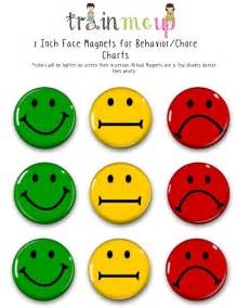 Smiley Behavior Chart Template by Magnets For Chore Charts Magnets Behavior
