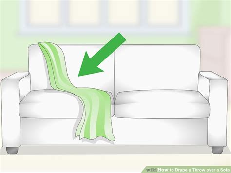 settee throw overs 3 ways to drape a throw over a sofa wikihow