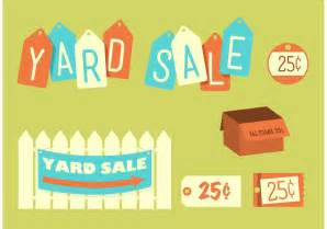 yard sale template retro yard sale free vector stock graphics