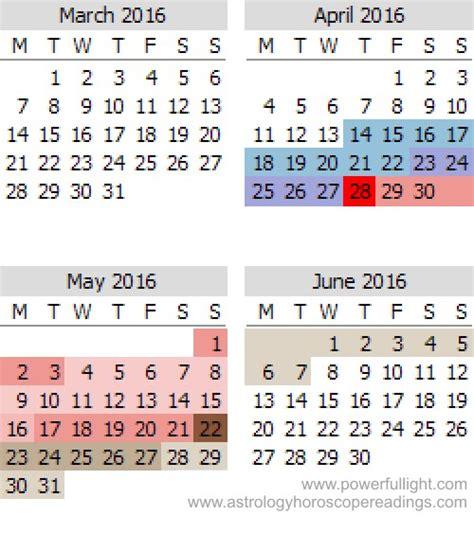 Mercury Retrograde Calendar Mercury Retrograde Calendar For 2016 Powerful Light