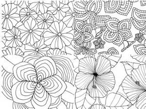 flower coloring pattern patterned flowers card coloring page by sneezerville craftsy