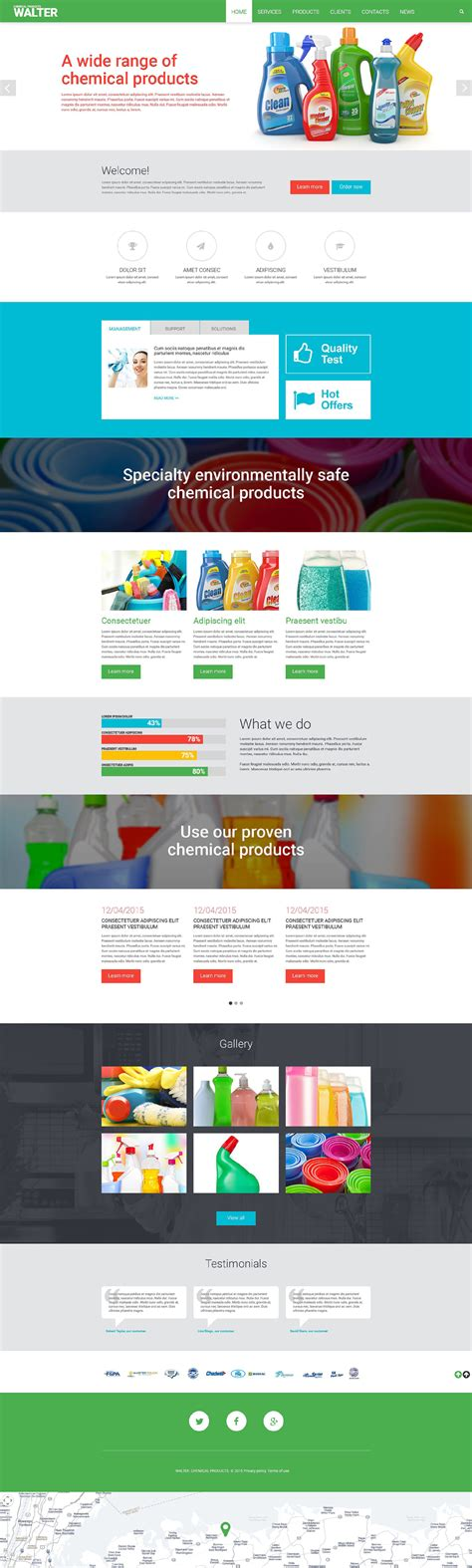 Cleaning Supplies Website Template Supplement Website Template