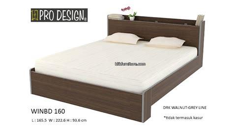 Ranjang Kayu Ukuran 160 harga ranjang kayu winbd 160 prodesign sale