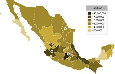 map of mexico by state list of mexican states by population