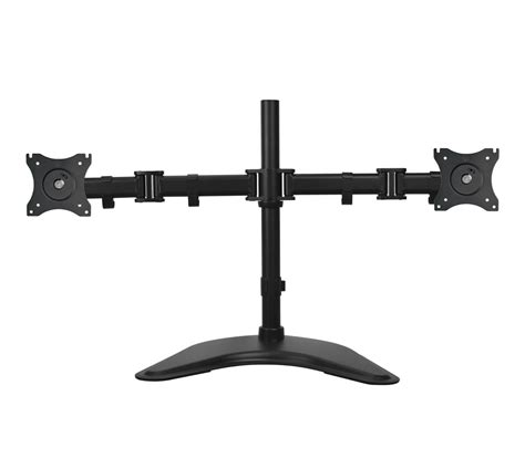 dual monitor desk stand articulated freestanding dual monitor desk stand 13 quot 27