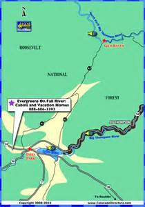 lake estes fishing map colorado vacation directory