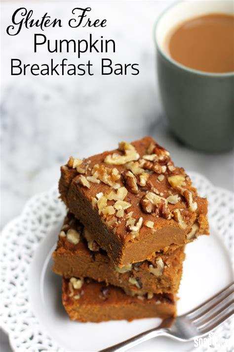 gluten free pumpkin breakfast bars soap queen