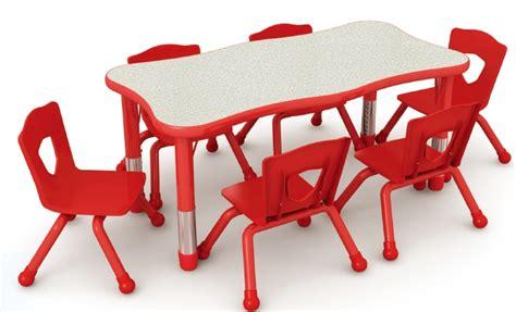 beautiful wave preschool dining table  chairsplastic preschool furniturecolorful nursery