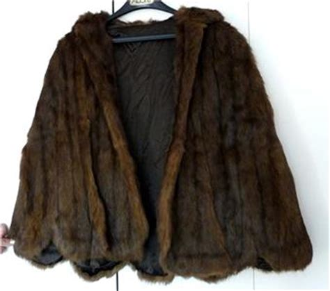 Get An Ermine Fur Cape Formerly Owned By Jean Harlow by Ermine Brown Fur Gornostay Cape Bolero Jacket Swing