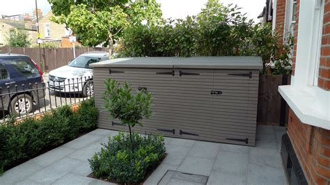 backyard store bin bike store shed garden storage unit bespoke wimbledon