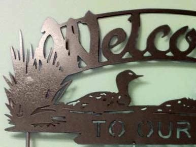 personalized loon  sign wisconsinmade artisan