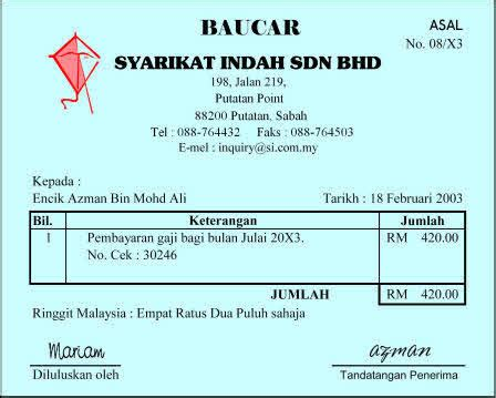 pin contoh payment voucher on