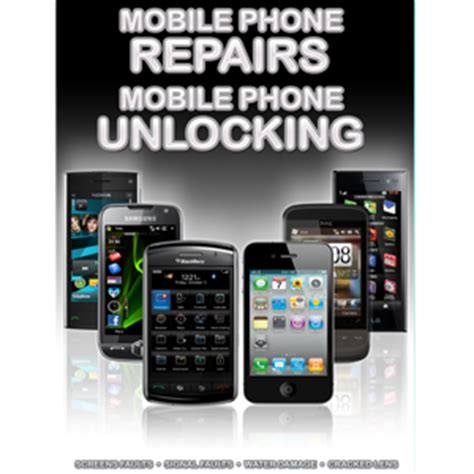 mobile phone unlocking general mobile phone unlocking and repair a3 poster black