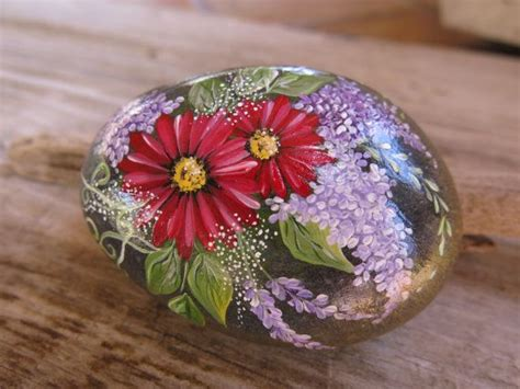 Painted Rocks For Garden Painted Rock Garden Rock California Rock Handpainted Home D
