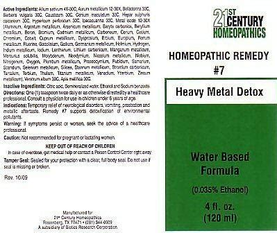 Homeopathic Heavy Metal Detox by Dailymed Century 21 Heavy Metal Detox Garlic Gold