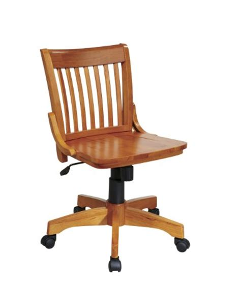 wood desk chairs deluxe armless wood bankers desk chair with wood seat