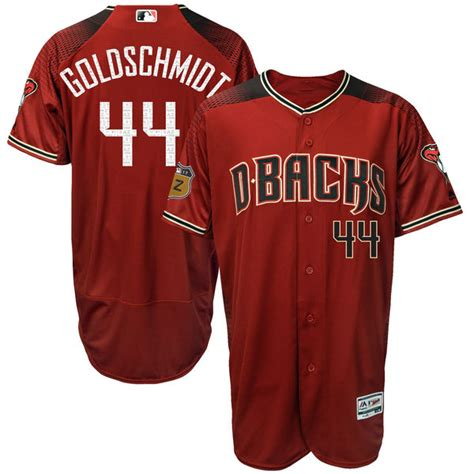 Dbacks Giveaways 2017 - men s arizona diamondbacks paul goldschmidt majestic