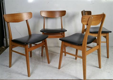 danish modern dining room set set of four danish modern dining chairs at 1stdibs
