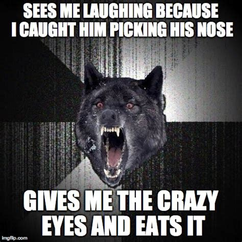 Crazy Wolf Meme - came across this psycho on the drive to work this morning