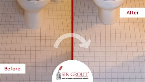 how to whiten grout in bathroom a grout cleaning gave this ceramic bathroom floor in