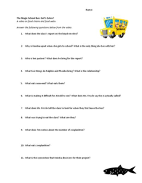 the magic school worksheets the magic school gets eaten 3rd 5th grade worksheet lesson planet