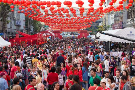 new year 2015 celebration in chinatown thai and tourists during the celebration of
