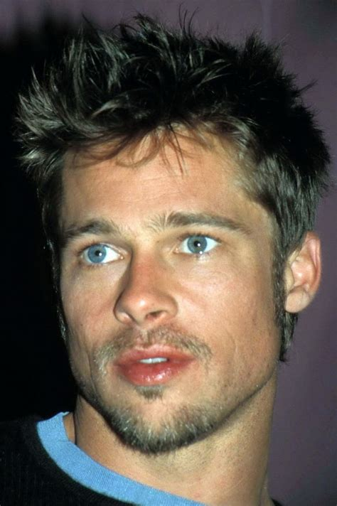 pit gallery brad pitt brown hair and blue before he