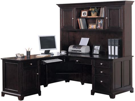 wood l shaped desk with hutch corner desk with hutch for home office furniture