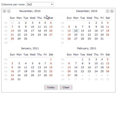 multi month calendar calendar template 2016