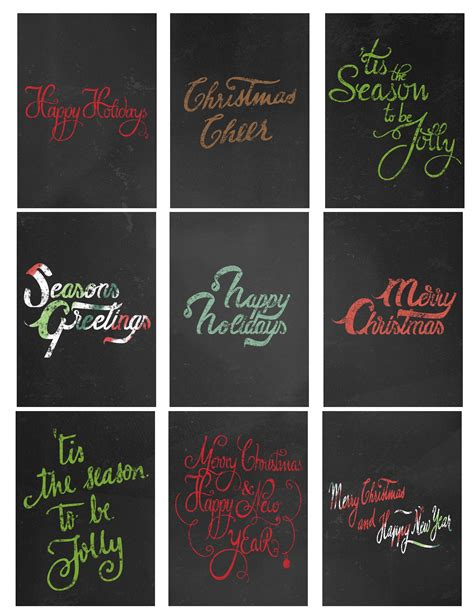 free printable chalkboard christmas gift tags printables archives page 4 of 16 the graffical muse