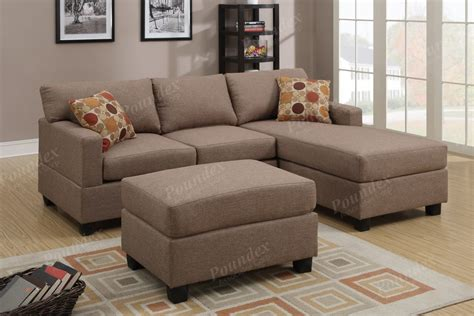 reversible sectional couch reversible poundex sofa corner sectional chaise set w 2