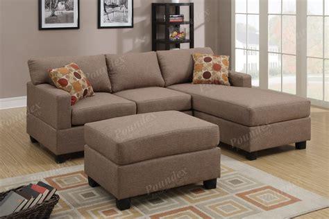 reversible corner sofa reversible poundex sofa corner sectional chaise set w 2