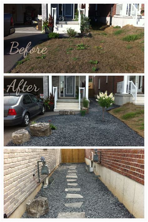 driveway small yard patio front house landscaping ideas