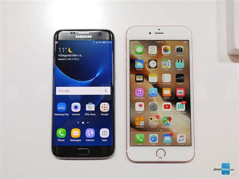 5 things that the samsung galaxy s7 edge has the apple iphone 6s plus