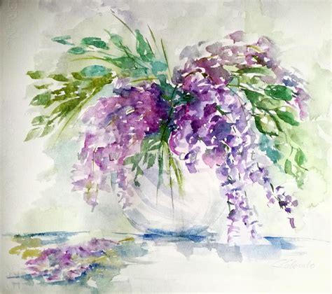 glicine in fiore il glicine in fiore per me vendita quadro pittura