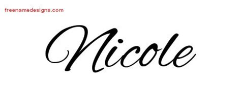 nicole tattoo designs archives free name designs