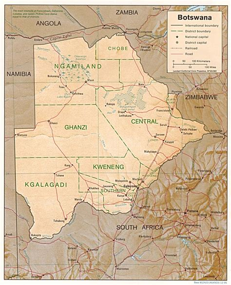 botswana map nationmaster maps of botswana 4 in total