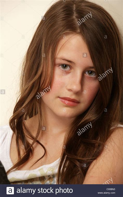 11yr girl portrait of a pretty 11 year old girl stock photo