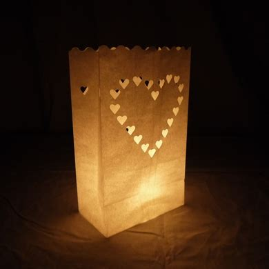 heart paper luminaries luminary lantern bags path
