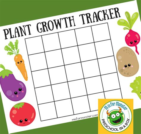 printable toddler growth chart plant growth chart for kids a free printable for kids