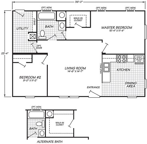 single wide mobile home floor plans 2 bedroom 28 2 bedroom 2 bath single wide mobile home floor plans