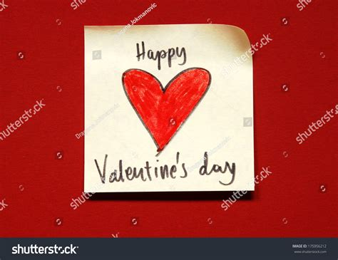 valentines day note valentines day note stock photo 175956212