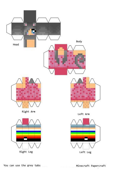 Minecraft Papercraft Cat - papercraft nyan cat mine craft skins