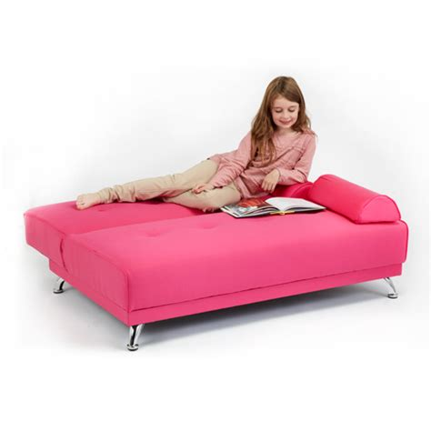 Pink Sofa Bed Childrens Cotton Twill Clic Clac Sofa Bed With Armrests Futon Sofabed Guest