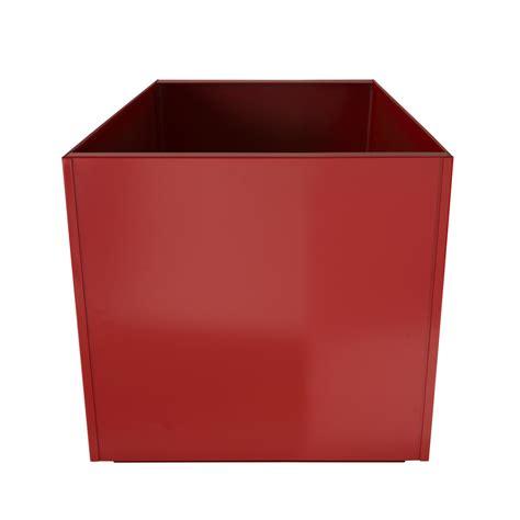 square 20 inch metal planter box large aluminum