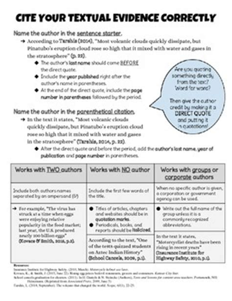 apa format handout apa parenthetical citation guide student handout by ela in