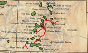 the colorado trail map colorado trail foundation wilderness area information