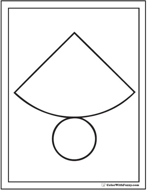 How To Make A Cone Shape Out Of Construction Paper - shape coloring pages customize and print