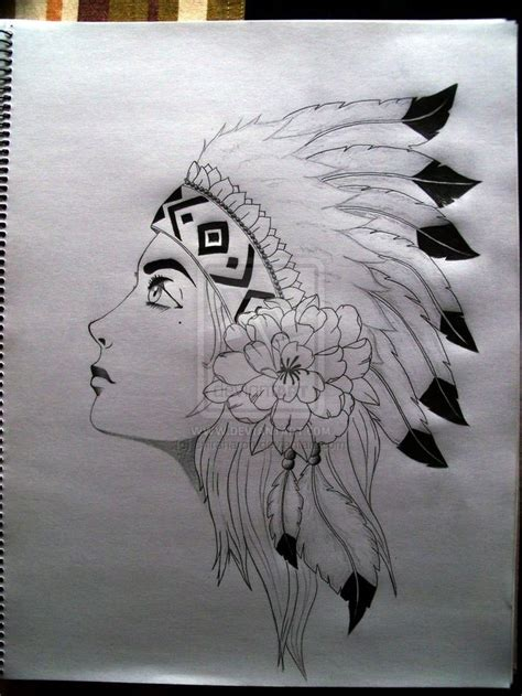 native american by sniraharon tattoos designs